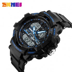 SKMEI Jam Tangan Analog Digital Pria - AD1164 - Black/Blue - 3
