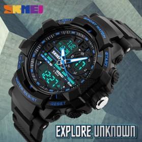 SKMEI Jam Tangan Analog Digital Pria - AD1164 - Black/Blue - 8