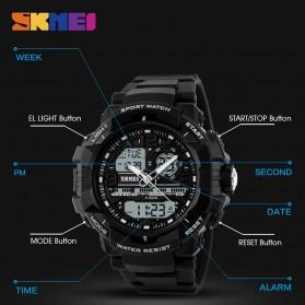 SKMEI Jam Tangan Analog Digital Pria - AD1164 - Black White - 9