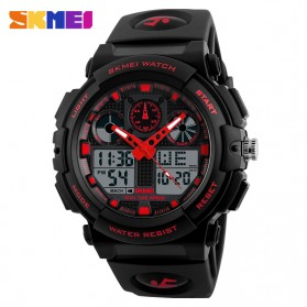 SKMEI Jam Tangan Analog Digital Pria - AD1270 - Black/Red