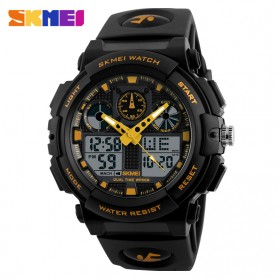 SKMEI Jam Tangan Analog Digital Pria - AD1270 - Black Gold