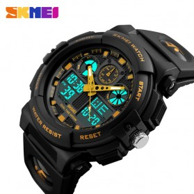SKMEI Jam Tangan Analog Digital Pria - AD1270 - Black Gold - 3