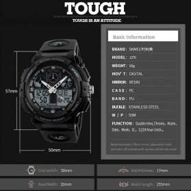 SKMEI Jam Tangan Analog Digital Pria - AD1270 - Black Gold - 10