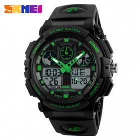 SKMEI Jam Tangan Analog Digital Pria - AD1270 - Black/Green
