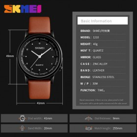 SKMEI Jam Tangan Analog Pria - 1210 - Brown/Black - 6