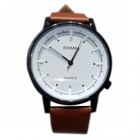 SKMEI Jam Tangan Analog Pria - 1210 - Brown/White