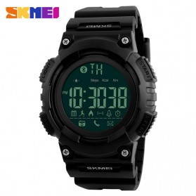 SKMEI Jam Tangan Sporty Smartwatch Bluetooth - 1256 - Black