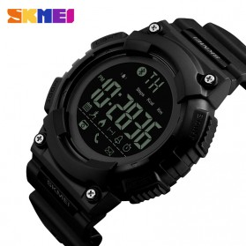 SKMEI Jam Tangan Sporty Smartwatch Bluetooth - 1256 - Black - 2