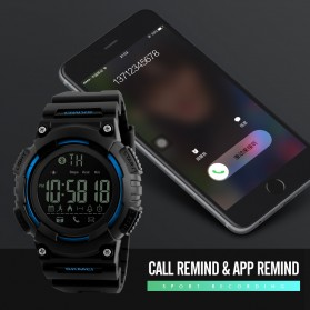 SKMEI Jam Tangan Sporty Smartwatch Bluetooth - 1256 - Black - 4