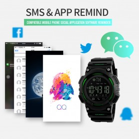 SKMEI Jam Tangan Sporty Smartwatch Bluetooth - 1256 - Black - 5