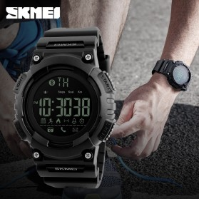 SKMEI Jam Tangan Sporty Smartwatch Bluetooth - 1256 - Black - 6