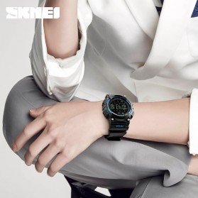 SKMEI Jam Tangan Sporty Smartwatch Bluetooth - 1256 - Black - 7