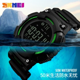 SKMEI Jam Tangan Sporty Smartwatch Bluetooth - 1256 - Black - 8