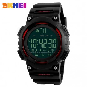 SKMEI Jam Tangan Sporty Smartwatch Bluetooth - 1256 - Red