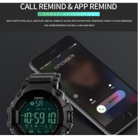 SKMEI Jam Tangan Olahraga Smartwatch Bluetooth - 1249 - Black - 2