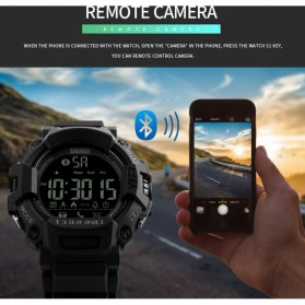 SKMEI Jam Tangan Olahraga Smartwatch Bluetooth - 1249 - Black - 4