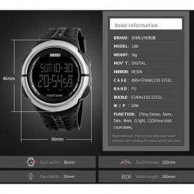SKMEI Jam Tangan Digital Sporty Pria - 1286 - Black - 4