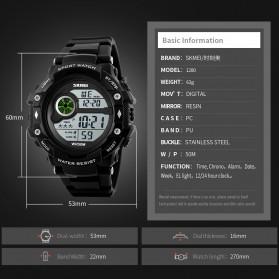 SKMEI Jam Tangan Digital Pria - 1280 - Black - 7