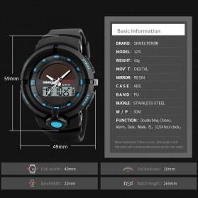 SKMEI Jam Tangan Digital Analog Pria - 1275 - Black - 6