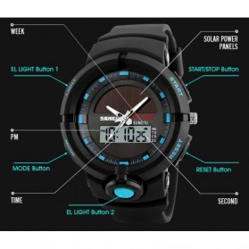 SKMEI Jam Tangan Digital Analog Pria - 1275 - Blue - 3
