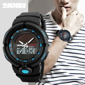 SKMEI Jam Tangan Digital Analog Pria - 1275 - Blue - 4