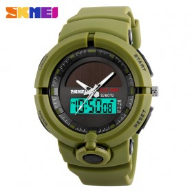 SKMEI Jam Tangan Digital Analog Pria - 1275 - Army Green