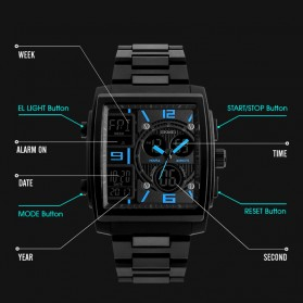 SKMEI Jam Tangan Analog Digital Sporty Pria - 1274 - Blue - 5