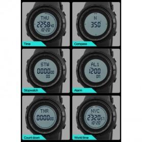 SKMEI Jam Tangan Kompas Digital Pria - 1254 - Black - 3
