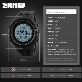 SKMEI Jam Tangan Kompas Digital Pria - 1254 - Black - 6