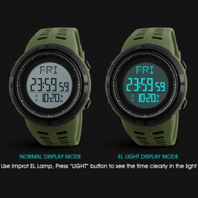 SKMEI Jam Tangan Digital Sporty Pria - 1295 - Black - 4