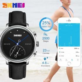 SKMEI Jam Tangan Analog Smartwatch - H8 - Silver Black - 2