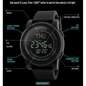 SKMEI Jam Tangan Kompas Digital Pria - 1289 - Black - 5