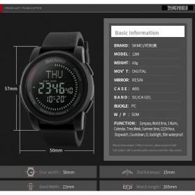 SKMEI Jam Tangan Kompas Digital Pria - 1289 - Black - 6