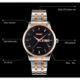 SKMEI Jam Tangan Analog Premium Pria - 9119 - Black - 7