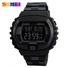 SKMEI Jam Tangan Digital Sporty Pria - 1304 - Black with White Side