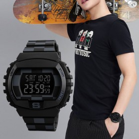 SKMEI Jam Tangan Digital Sporty Pria - 1304 - Black with White Side - 3