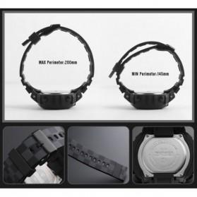 SKMEI Jam Tangan Digital Sporty Pria - 1304 - Black with White Side - 6