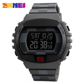 SKMEI Jam Tangan Digital Sporty Pria - 1304 - Gray