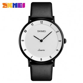SKMEI Jam Tangan Analog Pria PU Leather - 1263 - Black/Black