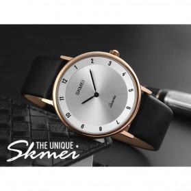 SKMEI Jam Tangan Analog Pria PU Leather - 1263 - Rose Gold/Silver - 3