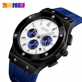 SKMEI Jam Tangan Analog Elegan Pria - 9157 - Blue - 5