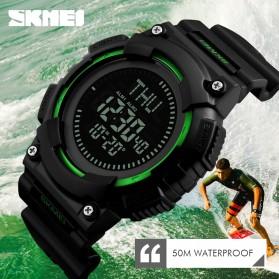 SKMEI Jam Tangan Digital Pria Dengan Kompas - 1259 - Black - 4