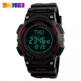 SKMEI Jam Tangan Digital Pria Dengan Kompas - 1259 - Red