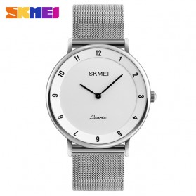 SKMEI Jam Tangan Analog Pria Stainless Steel - 1264 - White/Black