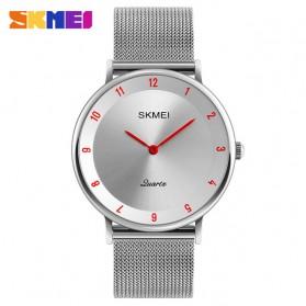 SKMEI Jam Tangan Analog Pria Stainless Steel - 1264 - Silver/Red