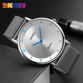 SKMEI Jam Tangan Analog Pria Stainless Steel - 1264 - Silver Black - 3