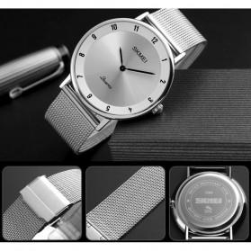 SKMEI Jam Tangan Analog Pria Stainless Steel - 1264 - Silver Black - 4