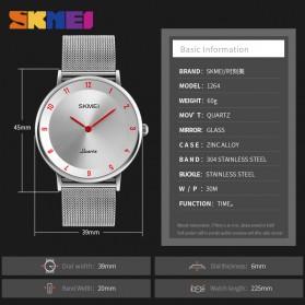 SKMEI Jam Tangan Analog Pria Stainless Steel - 1264 - Silver Black - 6