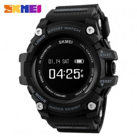 SKMEI Jam Tangan Sporty Smartwatch Bluetooth - 1188 - Black