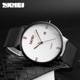SKMEI Jam Tangan Analog Pria Stainless Steel - 9164 - Black - 3
